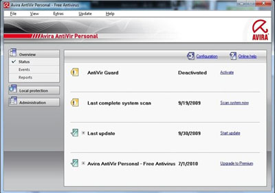 Avira AntiVir Personal - Best and free antivirus for Windows 7 - Antivirus Gratuit pentru Windows 7