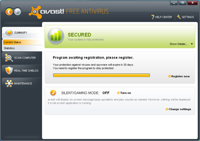Avast Free Antivirus - Best and free antivirus for Windows 7 - Antivirus Gratuit pentru Windows 7