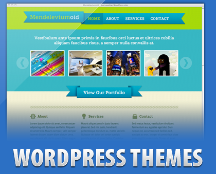Free wordpress theme for portofolio or business website : Mendeleviumoid
