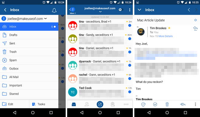 Blue Mail Android app