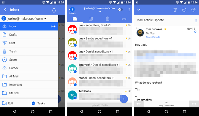 TypeApp email Android app
